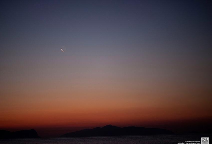 Crescent Moon Setting
